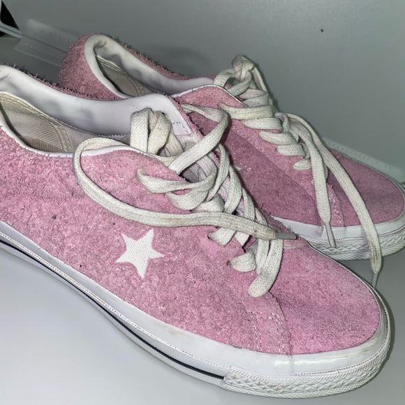 Converse Shoes   One Star Pink Suede